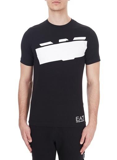 EA7 Emporio Armani  Baskılı Bisiklet Yaka Pamuklu T Shirt Erkek T Shırt 6Hpt31 Pj3Nz 1200 Siyah